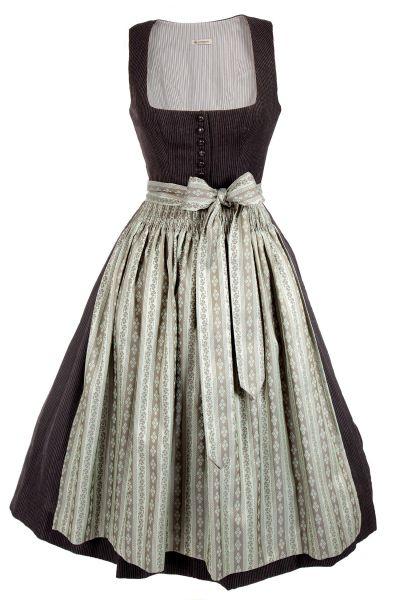 Gottseidank Vintage Dirndl Monika in schwarz und moosgrün