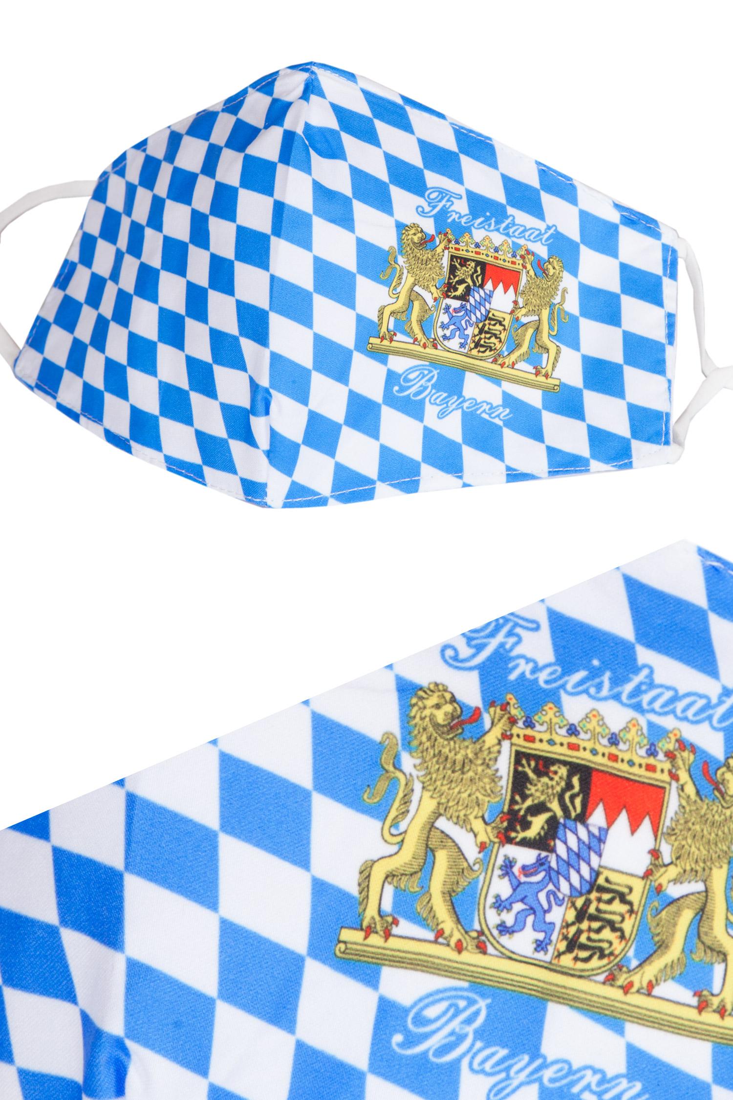 MNS Mundbedeckung Bayern Raute mit Wappen | Wirkes