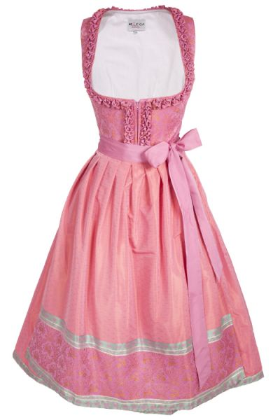 Melega Dirndl Sissi in pink mit mint und orange  1