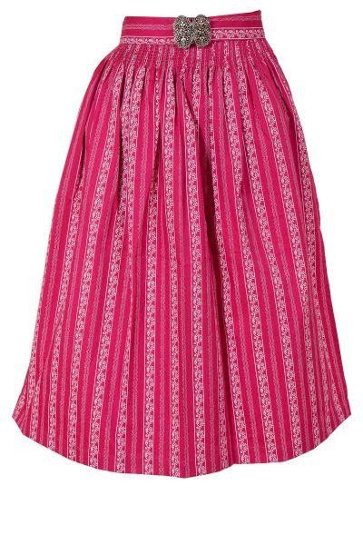 Midi Dirndlschürze Apron aus Baumwolle in pink
