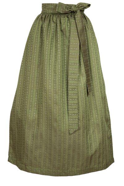 Lange Dirndlschürze in olivgrün mit Schleife
