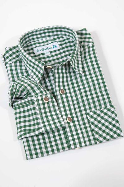 Kinder Trachtenhemd grün kariert Kinderhemd zur Tracht