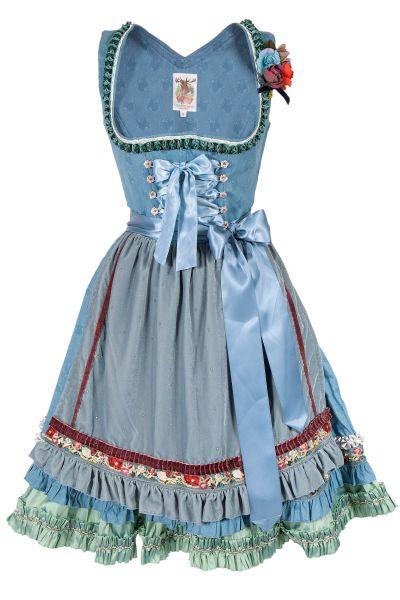 Lola Paltinger Dirndl Belle in blau mit Glitzer