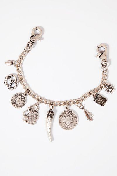Silberner Charivari für Herren mit Münzen und Horn