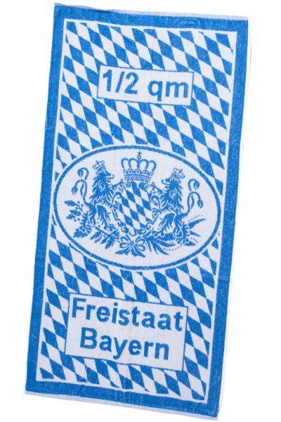 Handtuch weiß blau Bayernlöwe Bayern Flagge