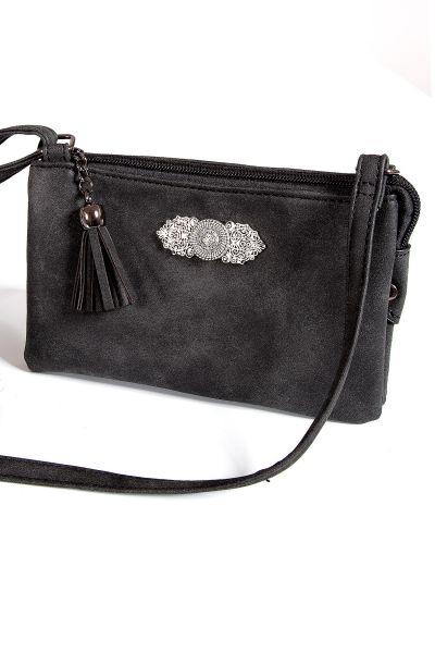 Kleine Trachtentasche in schwarz zum umhängen