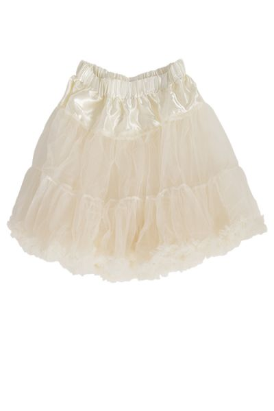Petticoat als Unterrock für Mini Dirndl in creme 1