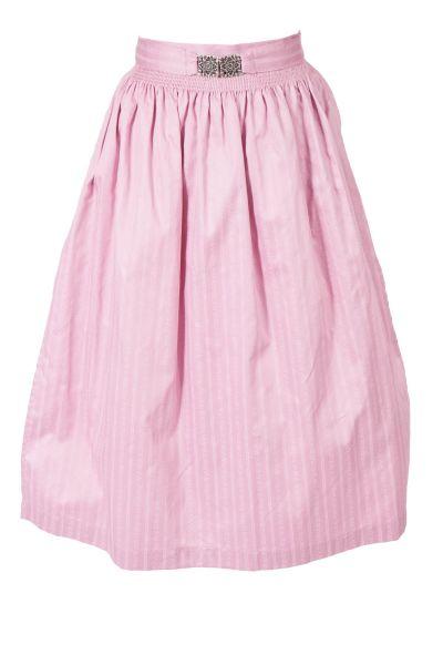 Dirndlschürze aus Baumwolle in rosa