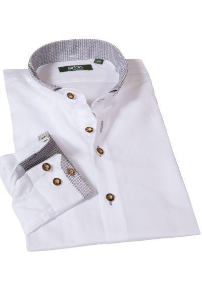 Arido Trachtenhemd mit grauen Details
