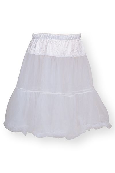 Petticoat Unterrock in weiß mit Tüll 65 cm 3