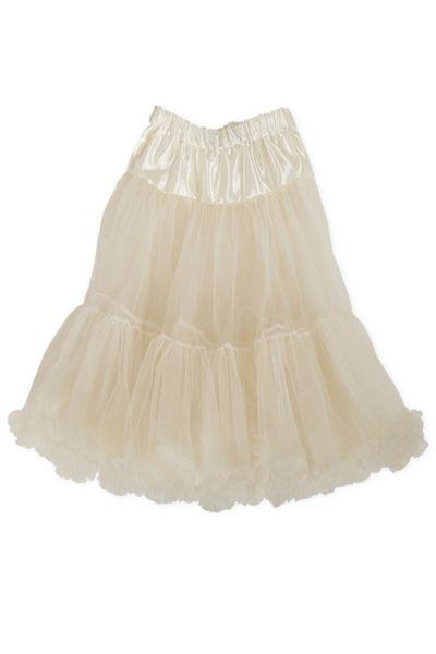 Petticoat als Dirndl Unterrock in creme für Midi Dirndl 1