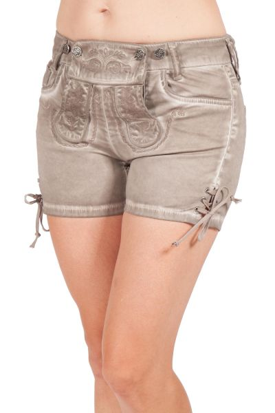 Trachten Shorts Franzi kurz in stein mit Stretch