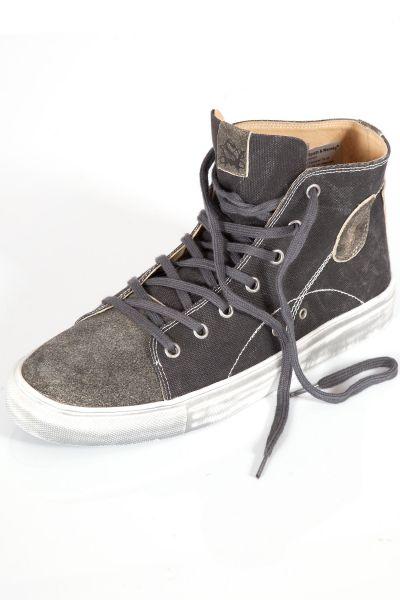 Trachen Sneaker Luis aus Textil in schwarz