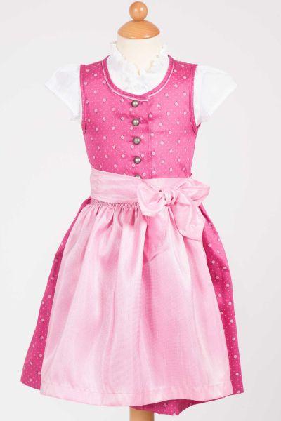 BabyDirndl Lotta in pink und rosa mit Bluse