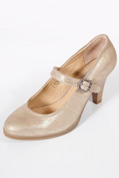Trachten Schuhe Pumps in gold als Dirndlschuhe