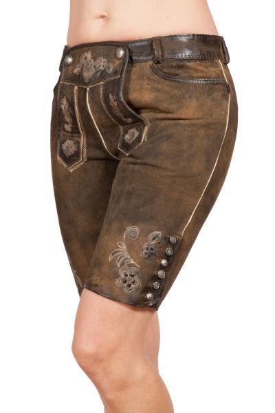 Knielange Lederhose Bertila für Damen Tracht