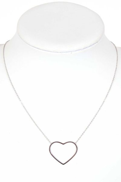 Trachtenkette in silber mit offenem Herz