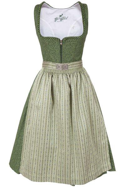 Midi Dirndl Lisa aus Baumwolle in grün