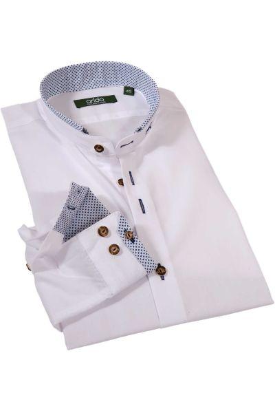 Exklusives Trachtenhemd in weiß blau gemustert