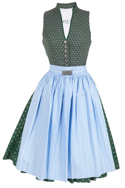 Midi Dirndl traditionell Tegernsee in grün