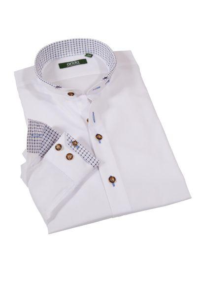 Exklusives Trachtenhemd in weiß mit blau von arido