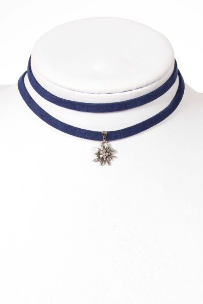 Trachtenkette zum wickeln in dunkelblau