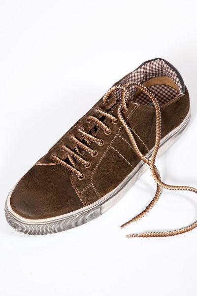 Trachten Sneaker für Herren Hiasl in dunkelbraun