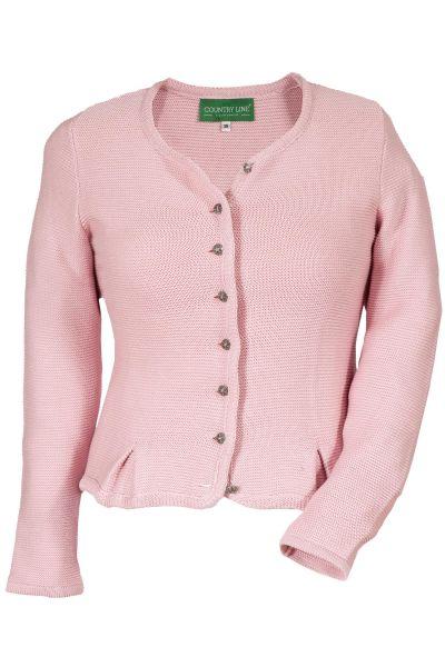 Damen Trachten Strickjacke in rosa