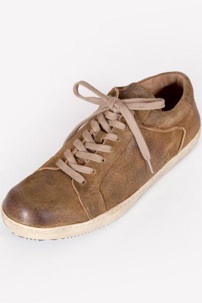 Herren Trachten Sneaker in havanna braun aus Leder