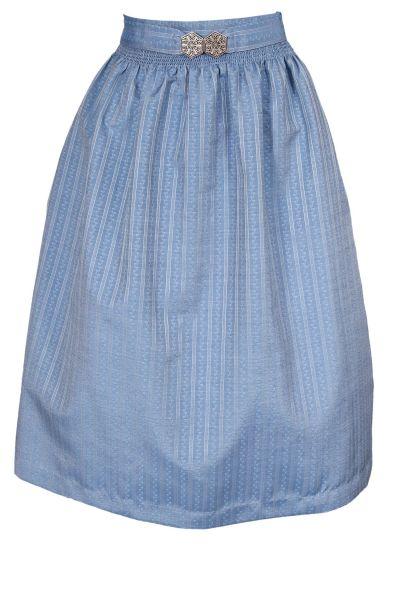 Dirndlschürze edle in blau mit Silberschließe