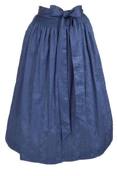 Dirndlschürze aus Baumwolle in dunkelblau