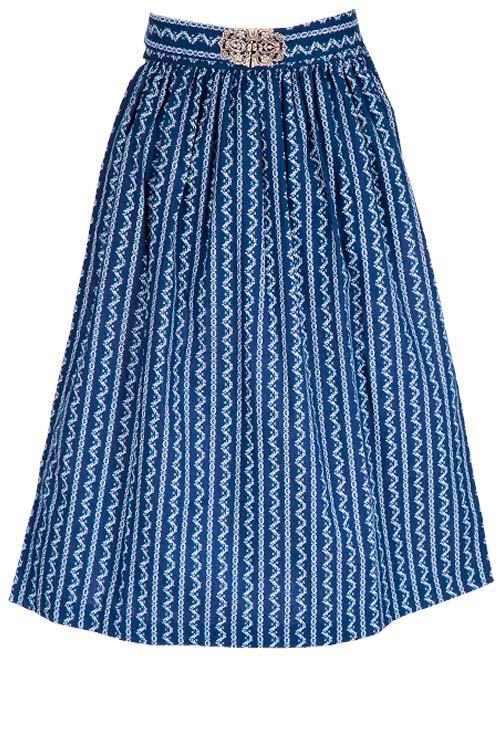 e9a4dc19bb4250 Dirndlschürze dunkelblau 65 cm im Retro Style | Wirkes