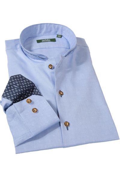 arido Trachtenhemd in hellblau mit Rauten
