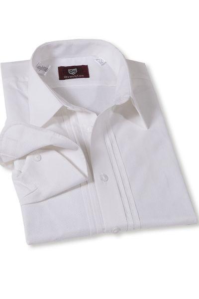Trachtenhemd für Herren in weiß bayerische Trachtenmode