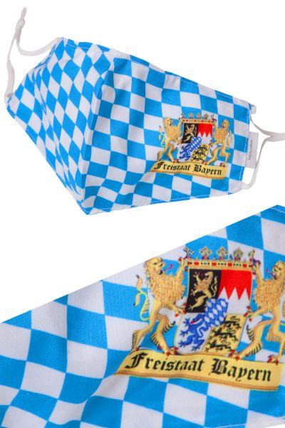 MNS Mundbedeckung Bayern Raute mit Wappen und Löwen