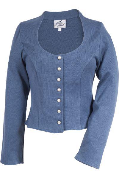 Trachten Strickjacke Melina für Damen in blau
