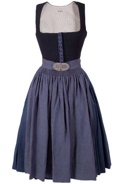 Gottseidank Dirndl Monika in Vintage dunkelblau
