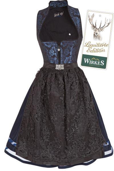 Midi Dirndl Nicole in nachtblau und schwarz Limited Edition
