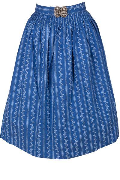 Dirndlschürze 70 cm Apron aus Baumwolle in blau