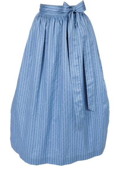 Dirndlschürze lang aus Baumwolle in blau