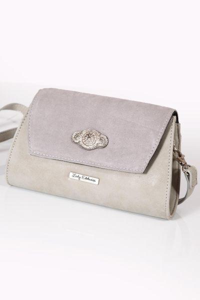 Trachtentasche in grau als Clutch zum umhängen