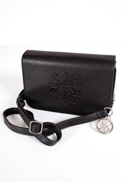 Trachtentasche mit Prägung in schwarz
