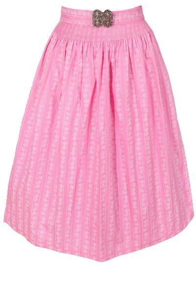 Midi Dirndlschürze Apron aus Baumwolle in rosa