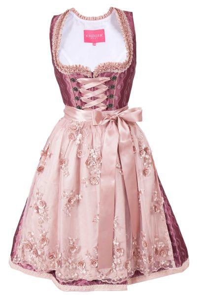 Mini Dirndl Delicia in beere und rosa 60 cm