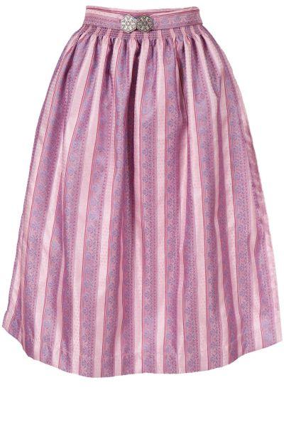 Midi Dirndlschürze Maria edel in rosa 70 cm