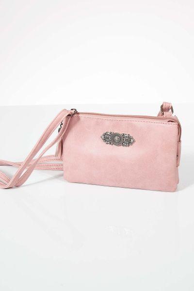 Kleine Trachtentasche in rosa zum umhängen