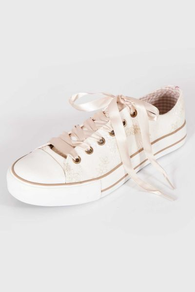 Trachten Chucks in creme für Damen