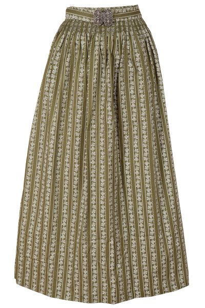 Dirndlschürze lang 90 cm aus Baumwolle in olivgrün