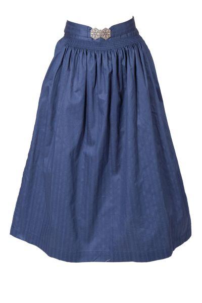 Dirndlschürze Midi aus Baumwolle in dunkelblau