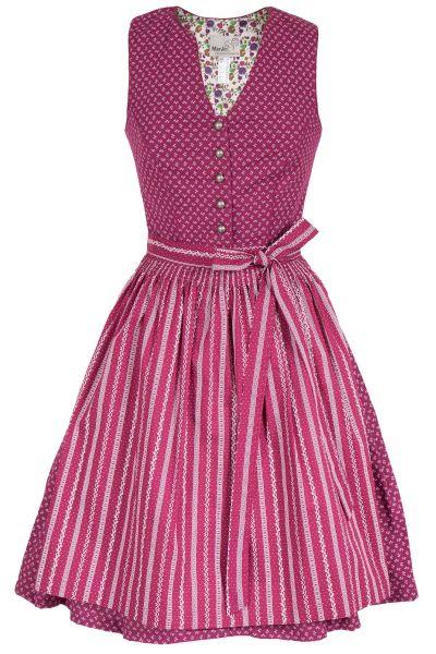 Mini Dirndl Bernalda in beere / pink mit Gütel